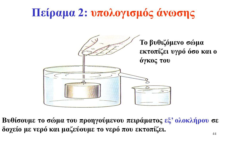 43 Το δυναμόμετρο μετρά την συνιστάμένη (συνολική) δύναμη που ασκείται πάνω στο σώμα.