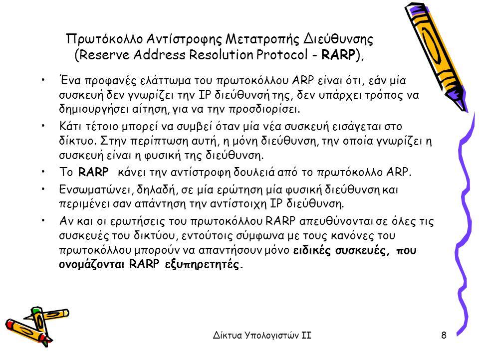 Πρωτόκολλο Αντίστροφης Μετατροπής Διεύθυνσης (Reserve Address Resolution Protocol - RARP), Ένα προφανές ελάττωμα του πρωτοκόλλου ARP είναι ότι, εάν μία συσκευή δεν γνωρίζει την IP διεύθυνσή της, δεν υπάρχει τρόπος να δημιουργήσει αίτηση, για να την προσδιορίσει.