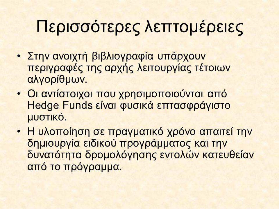 Περισσότερες λεπτομέρειες Στην ανοιχτή βιβλιογραφία υπάρχουν περιγραφές της αρχής λειτουργίας τέτοιων αλγορίθμων.
