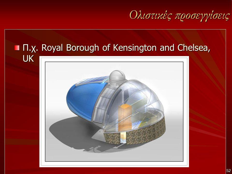52 Ολιστικές προσεγγίσεις Π.χ. Royal Borough of Kensington and Chelsea, UK
