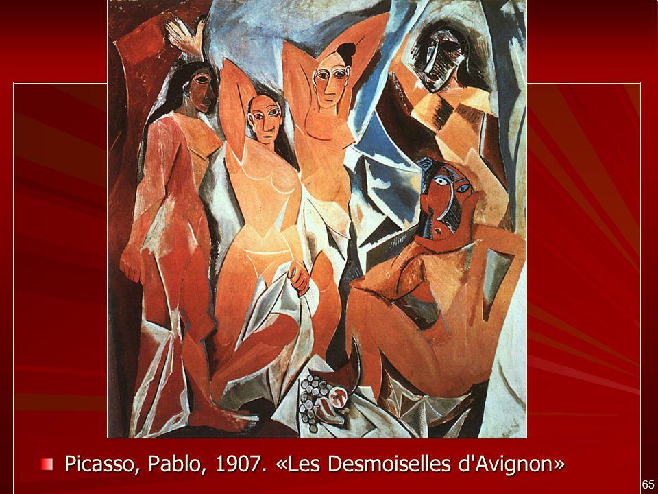 65 Picasso, Pablo, 1907. «Les Desmoiselles d'Avignon»