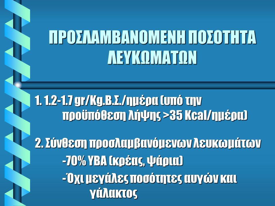 ΛΕΥΚΩΜΑΤΑ ΔΙΑΙΤΑΣ ΑΣΘΕΝΩΝ ΣΦΠΚ 1.