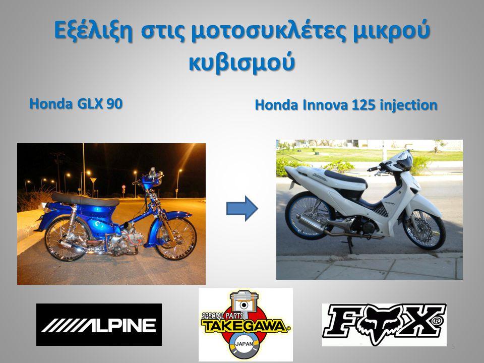 Εξέλιξη στις μοτοσυκλέτες μικρού κυβισμού Honda GLX 90 Honda Innova 125 injection 5