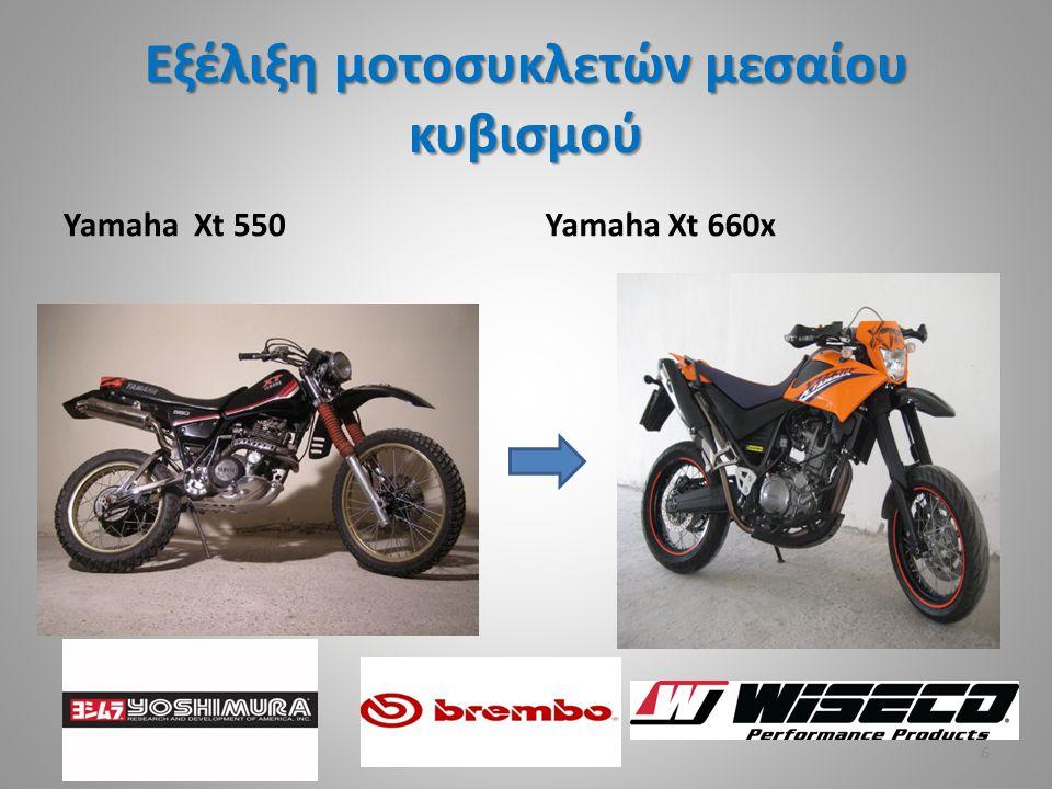 Εξέλιξη μοτοσυκλετών μεσαίου κυβισμού Yamaha Xt 550Yamaha Xt 660x 6
