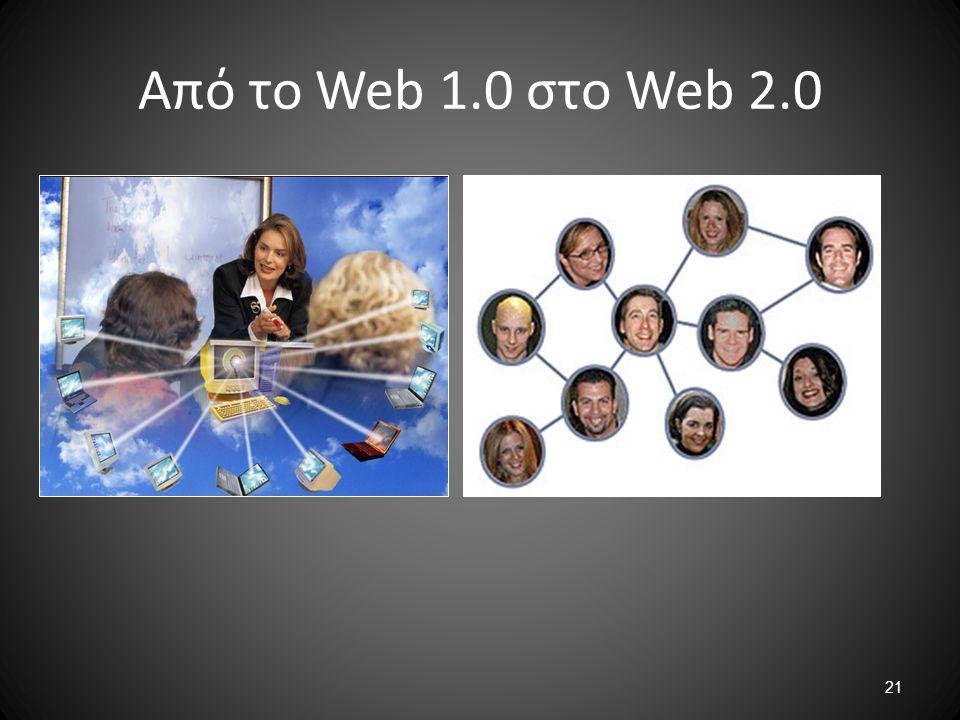 21 Από το Web 1.0 στο Web 2.0