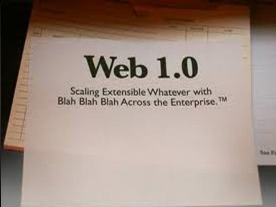 9 Τι είναι το Web 1.0; Είναι ένα ρετρόνυμο το οποίο αναφέρεται στον όρο του world wide web(www) και σε οποιοδήποτε σχεδιασμό ιστοσελίδας πριν την έλευση του web 2.0 Είναι ο ένας γενικός όρος ο οποίος είχε δημιουργηθεί το 1993 από τον Tim Berners- Lee και τους συνεργάτες του, πριν σκάσει η «φούσκα» του.com