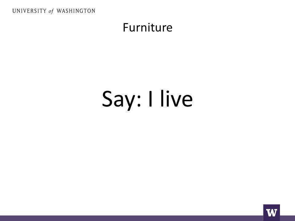 Say: I live