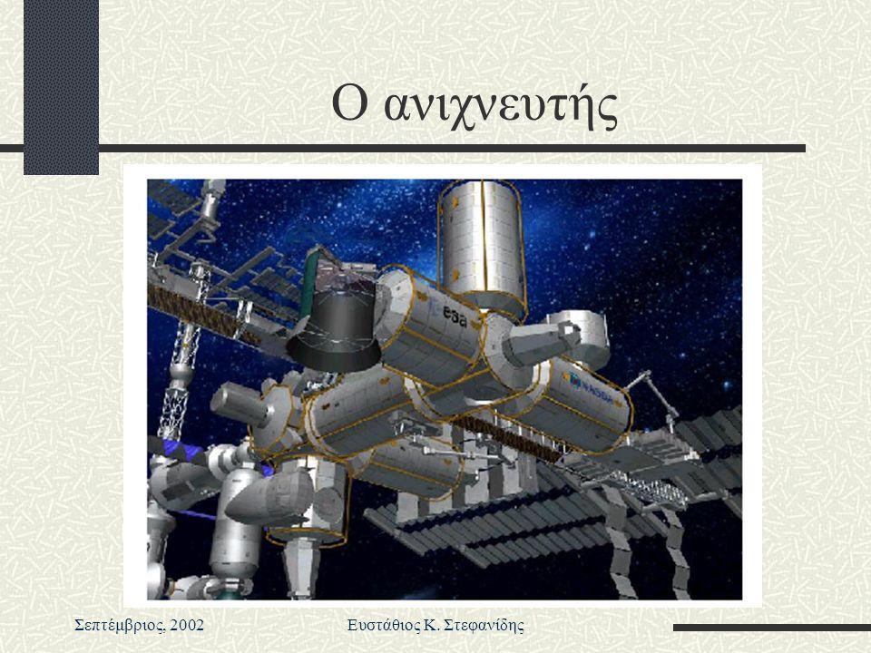 Σεπτέμβριος, 2002Ευστάθιος Κ. Στεφανίδης Ο ανιχνευτής