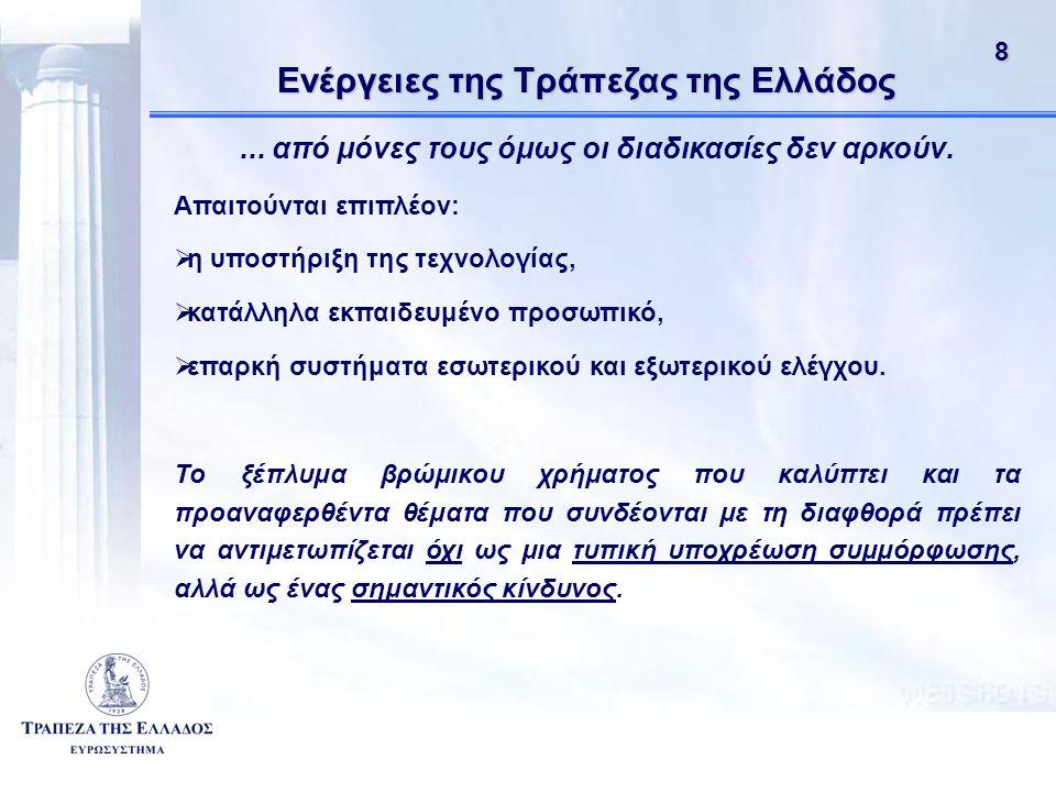 81 Ενέργειες της Τράπεζας της Ελλάδος...από μόνες τους όμως οι διαδικασίες δεν αρκούν.