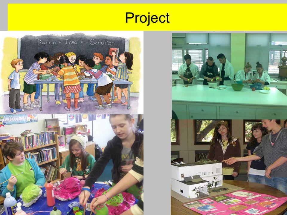 Project Μια ανοικτή διαδικασία μάθησης, με συγκεκριμένη μαθησιακή στόχευση και διαθεματική προσέγγιση, η οποία εδράζεται στα ενδιαφέροντα των μαθητών, αποσκοπώντας στην δημιουργική σύνθεση ενός έργου