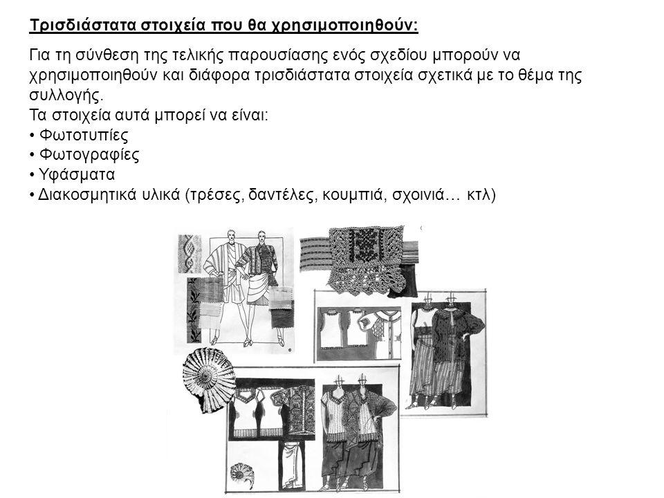 Μέγεθος και οργάνωση σελίδωσης: Το μέγεθος και η οργάνωση της σελίδας (Page layout), εξαρτώνται από τον αριθμό των στοιχείων (εικονογράφηση σχεδίου, σχέδια παραγωγής, υφάσματα, τρισδιάστατα διακοσμητικά στοιχεία…) που πρέπει να τοποθετηθούν στην τελική παρουσίαση.
