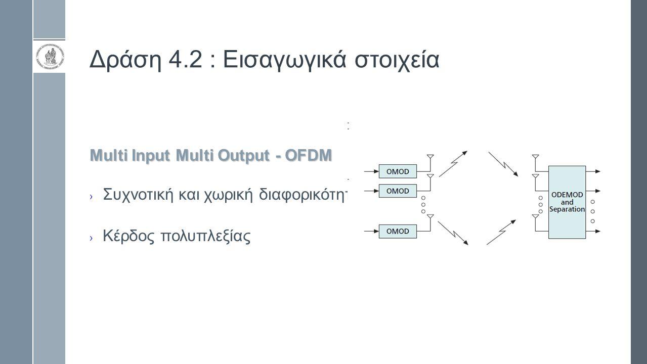 Δράση 4.2 : Εισαγωγικά στοιχεία Multi Input Multi Output - OFDM › Συχνοτική και χωρική διαφορικότητα › Κέρδος πολυπλεξίας