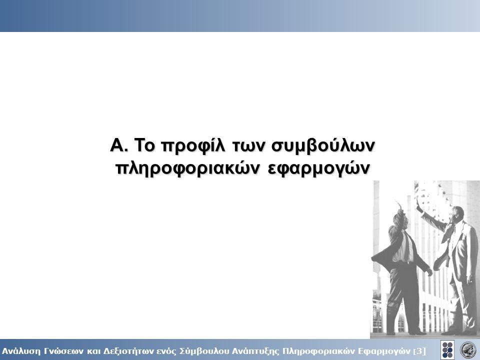 3] Ανάλυση Γνώσεων και Δεξιοτήτων ενός Σύμβουλου Ανάπτυξης Πληροφοριακών Εφαρμογών [ 3] Α.