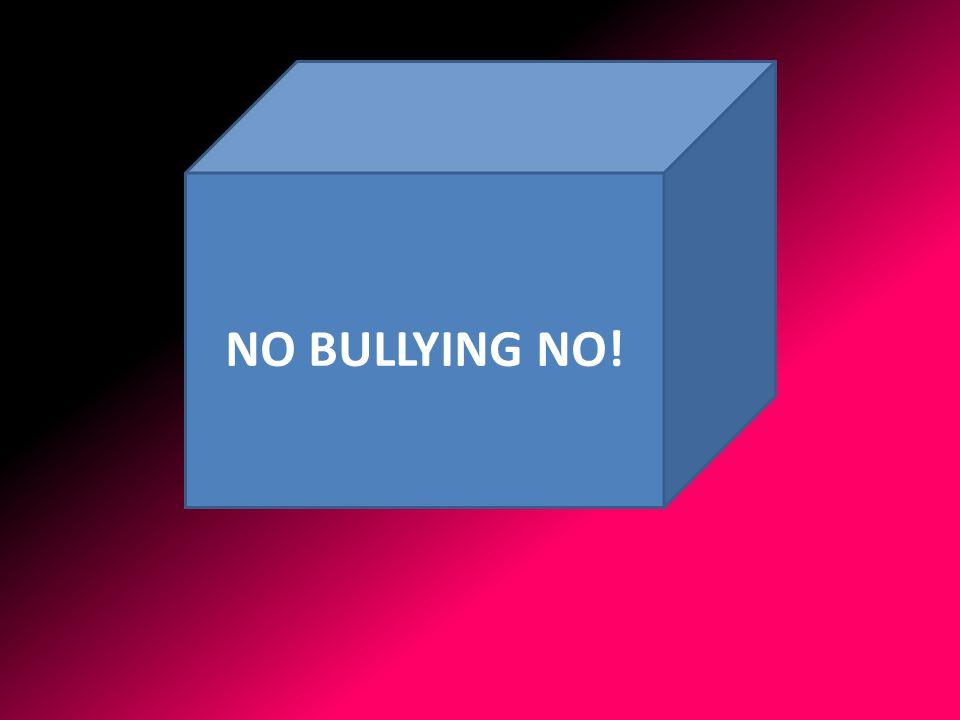 NO BULLYING NO!