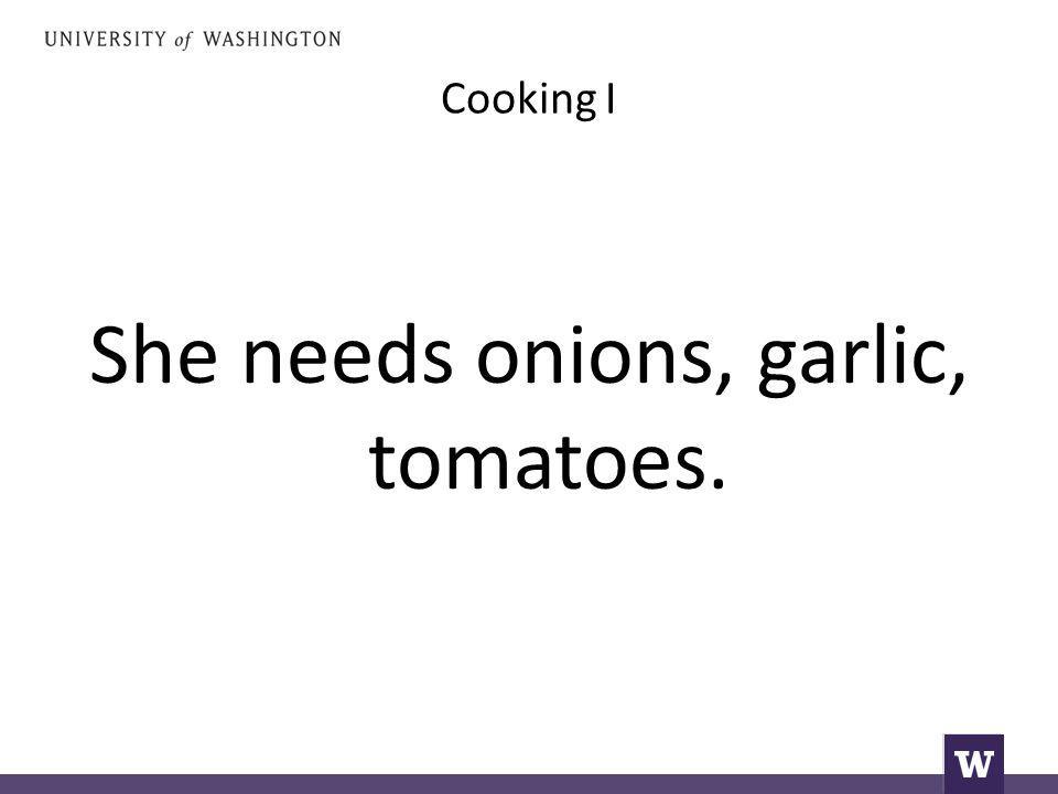 Cooking I Χρειάζεται κρεμμύδια, σκόδο κα ντομάτες.
