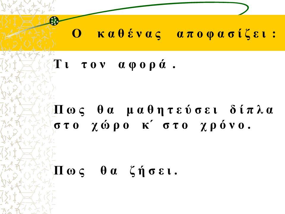 Ο κ α θ έ ν α ς α π ο φ α σ ί ζ ε ι : Τ ι τ ο ν α φ ο ρ ά.