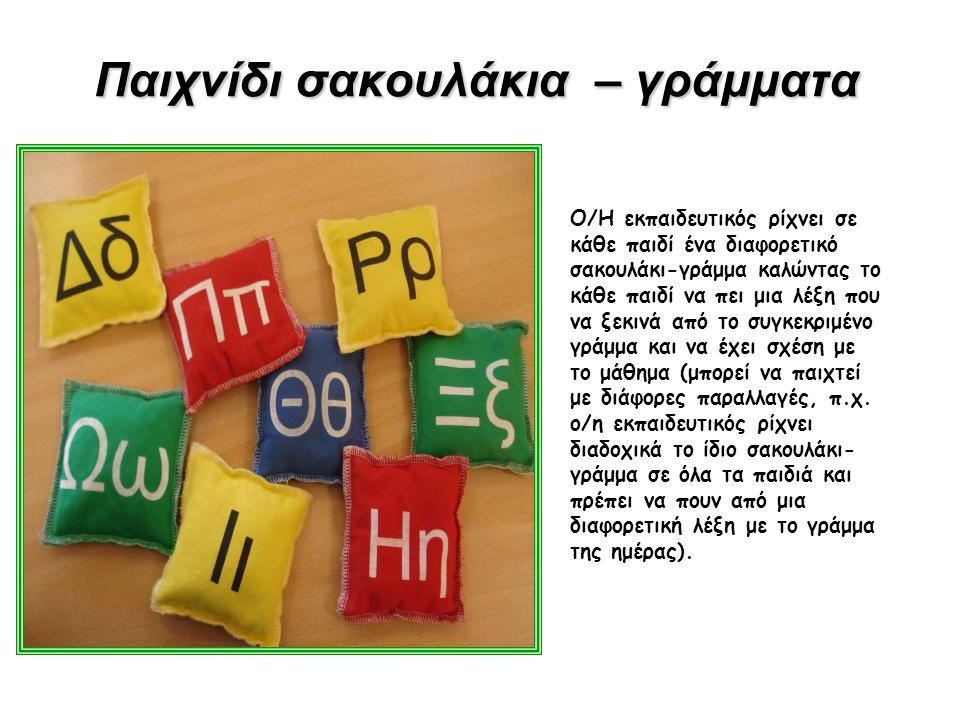 Παιχνίδι ανασύνθεσης βασικού λεξιλογίου… Τα παιδιά εργάζονται ομαδικά και σχηματίζουν λέξεις του βασικού λεξιλογίου ή καινούριες λέξεις προσθέτοντας συλλαβές σε δοσμένο λεξιλόγιο ή ενώνοντας συλλαβές.