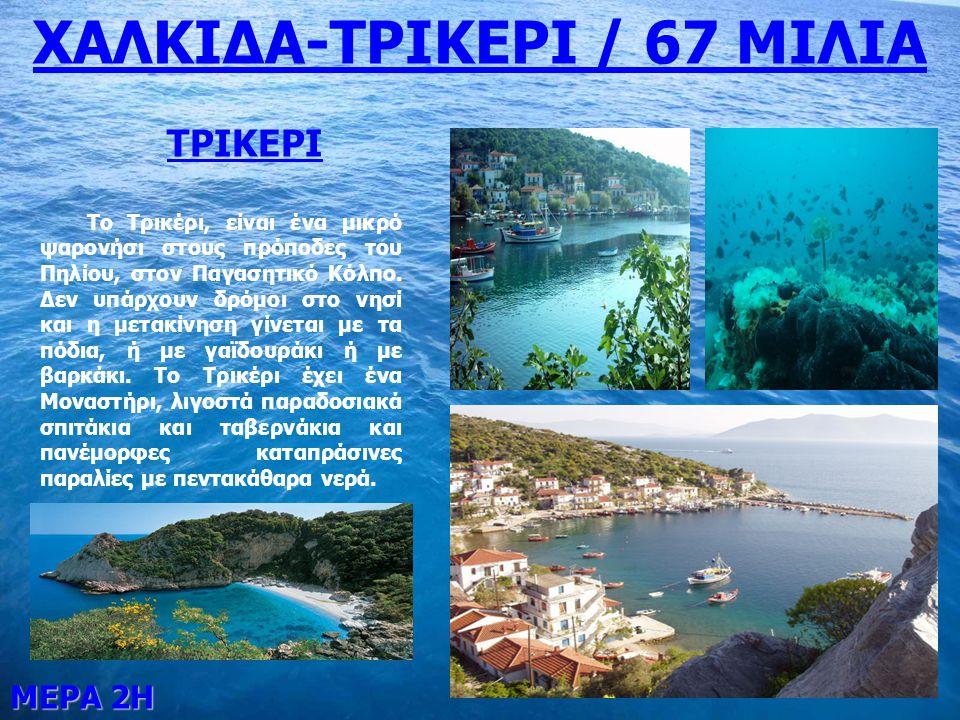 ΜΕΡΑ 3Η ΤΡΙΚΕΡΙ-ΣΚΙΑΘΟΣ / 25 ΜΙΛΙΑ ΣΚΙΑΘΟΣ Η Σκιάθος είναι ένα καταπράσινο νησί των Σποράδων, ανάμεσα στη Σκόπελο και την πόλη του Βόλου.
