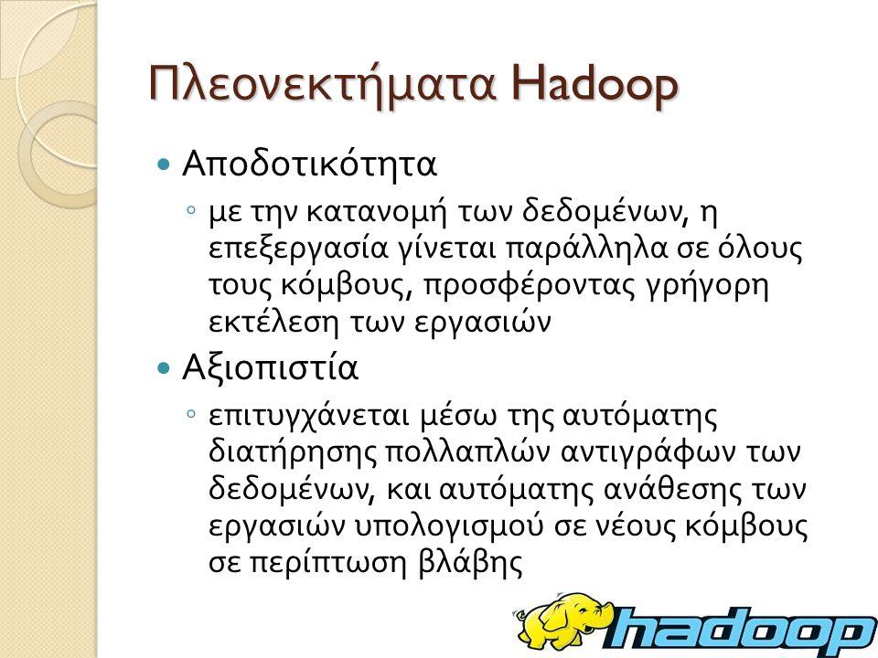 Εκτέλεση RandomTextWriter [orestis:hadoop] bin/hadoop jar hadoop-*-examples.jar randomwriter rand_output rtw.conf Running 10 maps.