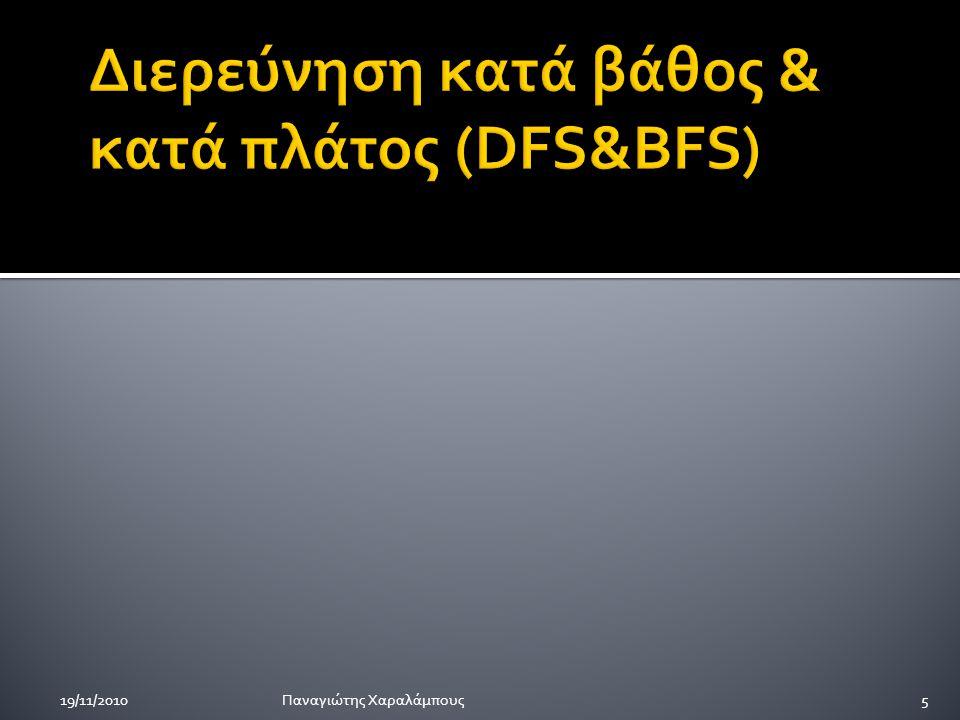 Α ΒC Α ΒC Α ΒC Γράφος G BFSDFS Παναγιώτης Χαραλάμπους19/11/20106