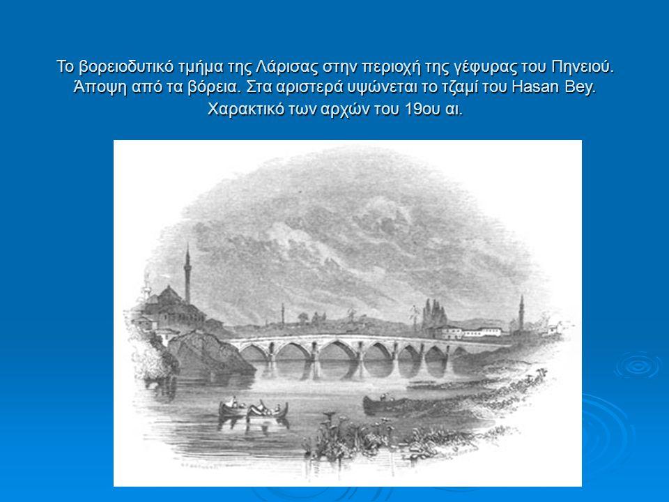 Το βορειοδυτικό τμήμα της Λάρισας στην περιοχή της γέφυρας του Πηνειού.
