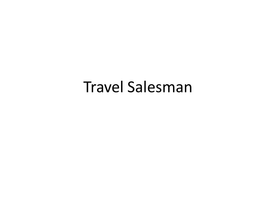Travel Salesman