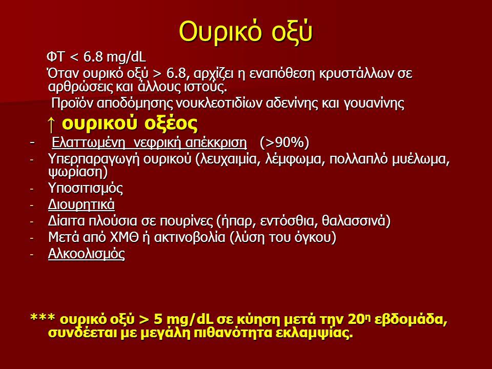 Γενική αίματος - αιμοπετάλια ↓ αιμοπεταλίων ↓ αιμοπεταλίων Μειωμένη παραγωγή (πρωτοπαθής βλάβη μυελού, αντικαρκινικά φάρμακα, αιθανόλη, θειαζιδικά διουρητικά, οιστρογόνα) Μειωμένη παραγωγή (πρωτοπαθής βλάβη μυελού, αντικαρκινικά φάρμακα, αιθανόλη, θειαζιδικά διουρητικά, οιστρογόνα) Αυξημένη καταστροφή περιφερικά Αυξημένη καταστροφή περιφερικά ιδιοπαθής θρομβοπενική πορφύρα, θρομβωτική θρομβοπενική πορφύρα, ΔΕΠ, βακτηριακές λοιμώξεις, ηπαρίνη ιδιοπαθής θρομβοπενική πορφύρα, θρομβωτική θρομβοπενική πορφύρα, ΔΕΠ, βακτηριακές λοιμώξεις, ηπαρίνη ιώσεις (CMV, EMV, HBV,HCV, HIV, Τοξοπλάσμωση) ιώσεις (CMV, EMV, HBV,HCV, HIV, Τοξοπλάσμωση) * Η θρομβοπενία μπορεί να είναι η μόνη αρχική ένδειξη λοίμωξης HIV