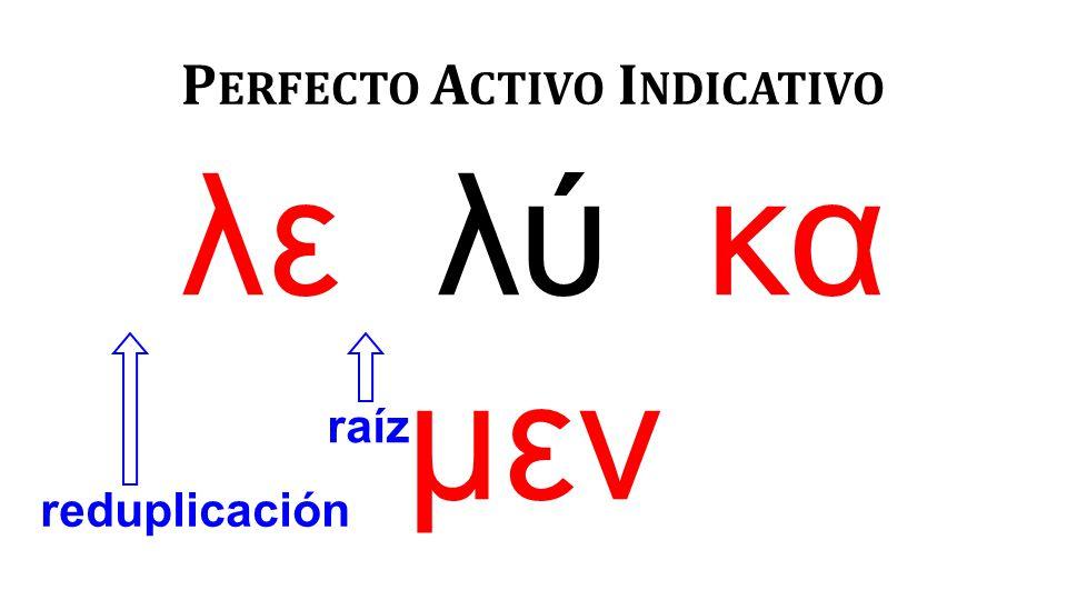 R EDUPLICACIÓN DE CONSONANTES ζητέω cuando empieza con ψ, ζ, ξ ε + ἐ ζήτηκα