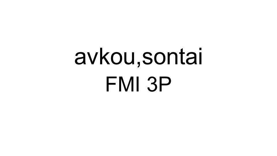 avkou,sontai FMI 3P