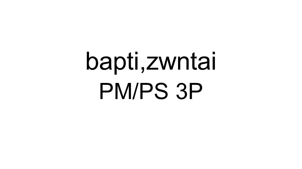 PM/PS 3P bapti,zwntai