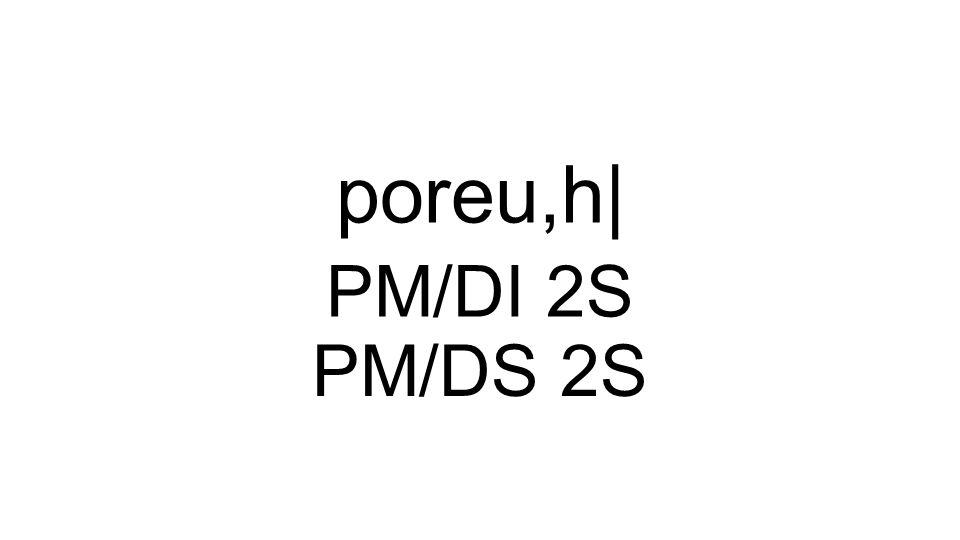 PM/DI 2S poreu,h| PM/DS 2S