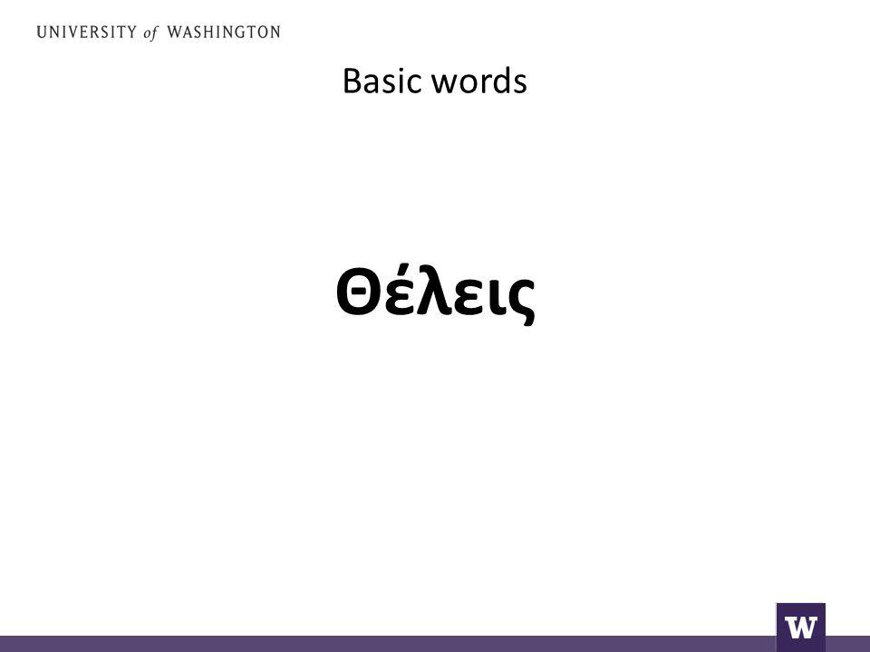 Basic words Θέλεις