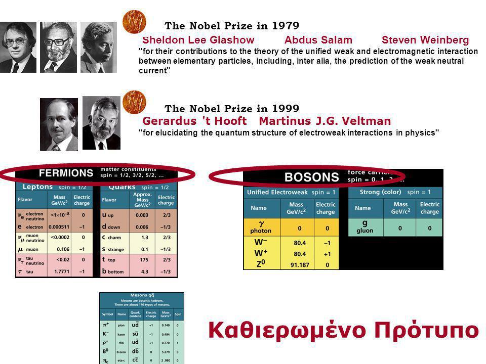 The Nobel Prize in 1979 Sheldon Lee Glashow Abdus Salam Steven Weinberg