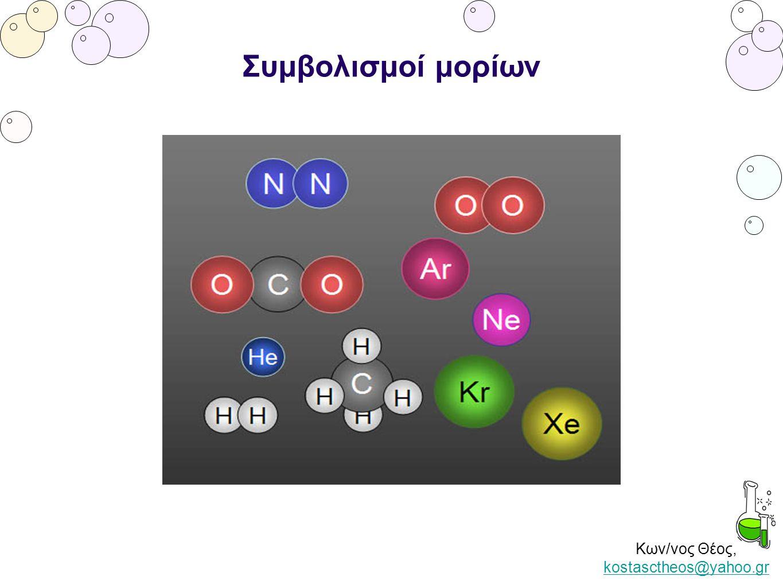 Κων/νος Θέος, kostasctheos@yahoo.gr kostasctheos@yahoo.gr Συμβολισμοί μορίων