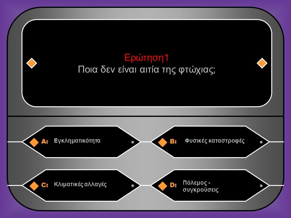 A:B: ΒουλγαρίαΛουξεμβούργο Ερώτηση 11 Ποια ευρωπαϊκή χώρα έχει το ψηλότερο ποσοστό εργαζομένων που δεν κερδίζουν αρκετά για να ξεφύγουν από τα όρια της φτώχιας; C:D: ΙσπανίαΡουμανία