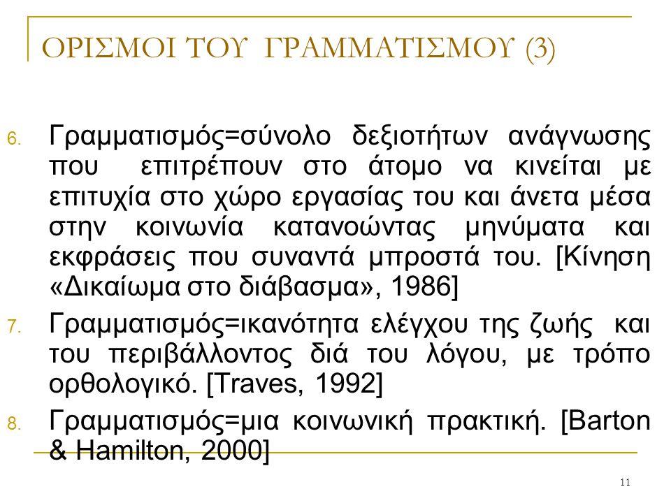 11 ΟΡΙΣΜΟΙ ΤΟΥ ΓΡΑΜΜΑΤΙΣΜΟΥ (3) 6.