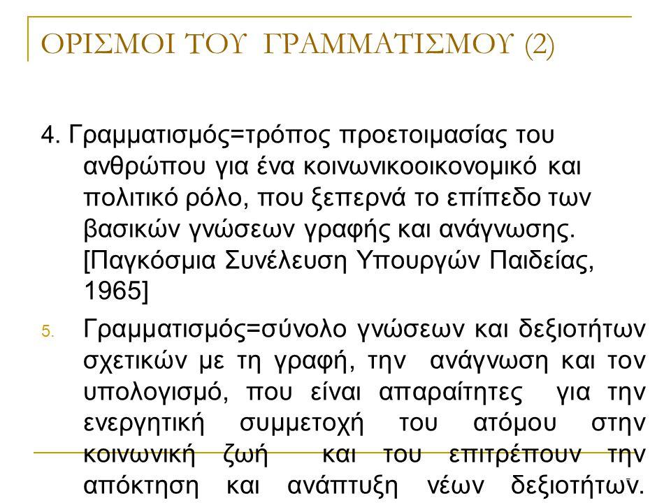 7 ΟΡΙΣΜΟΙ ΤΟΥ ΓΡΑΜΜΑΤΙΣΜΟΥ (2) 4.
