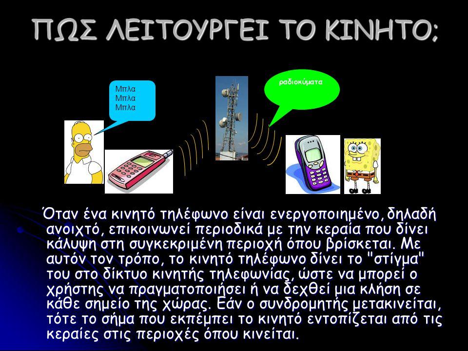 ΤΙ ΕΙΔΟΥΣ ΑΚΤΙΝΟΒΟΛΙΑ ΕΚΠΕΜΠΟΥΝ ΤΑ ΚΙΝΗΤΑ; ΠΗΓΗ: www.eeae.grwww.eeae.gr