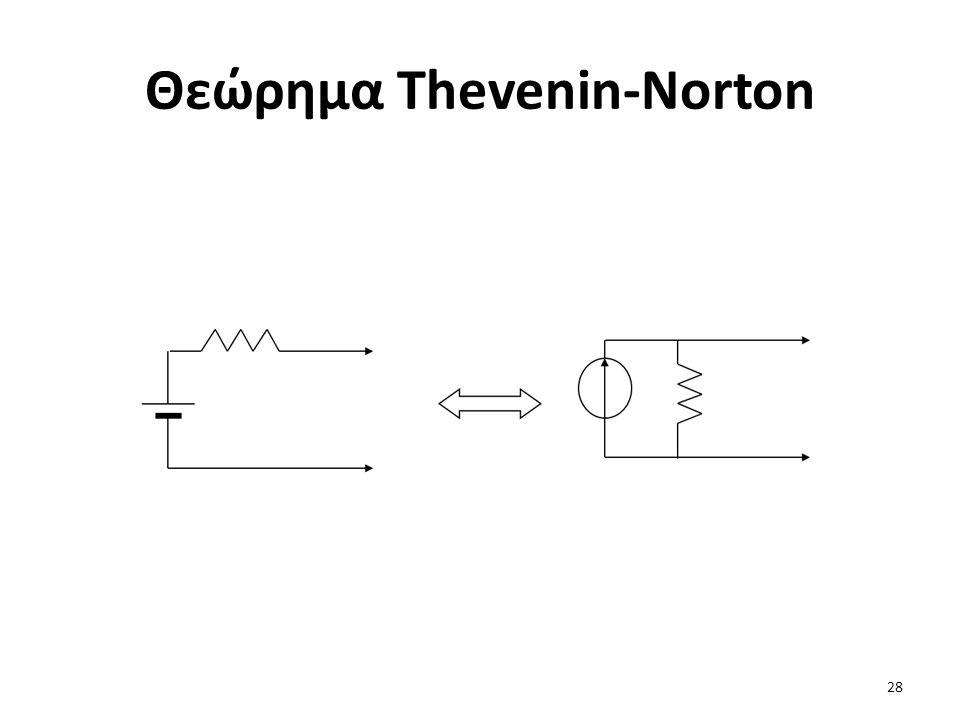 Θεώρημα Thevenin-Norton 28