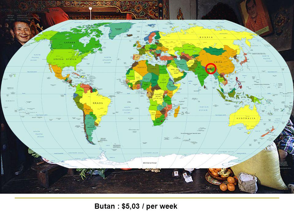 Butan : $5,03 / per week