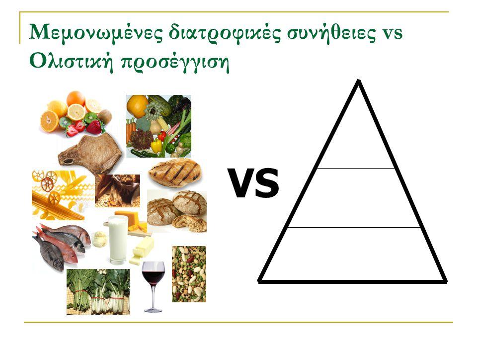 Μεμονωμένες διατροφικές συνήθειες vs Ολιστική προσέγγιση VS