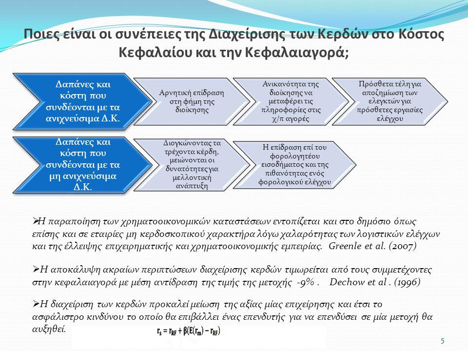 Δαπάνες και κόστη που συνδέονται με τα ανιχνεύσιμα Δ.Κ. Αρνητική επίδραση στη φήμη της διοίκησης Ανικανότητα της διοίκησης να μεταφέρει τις πληροφορίε