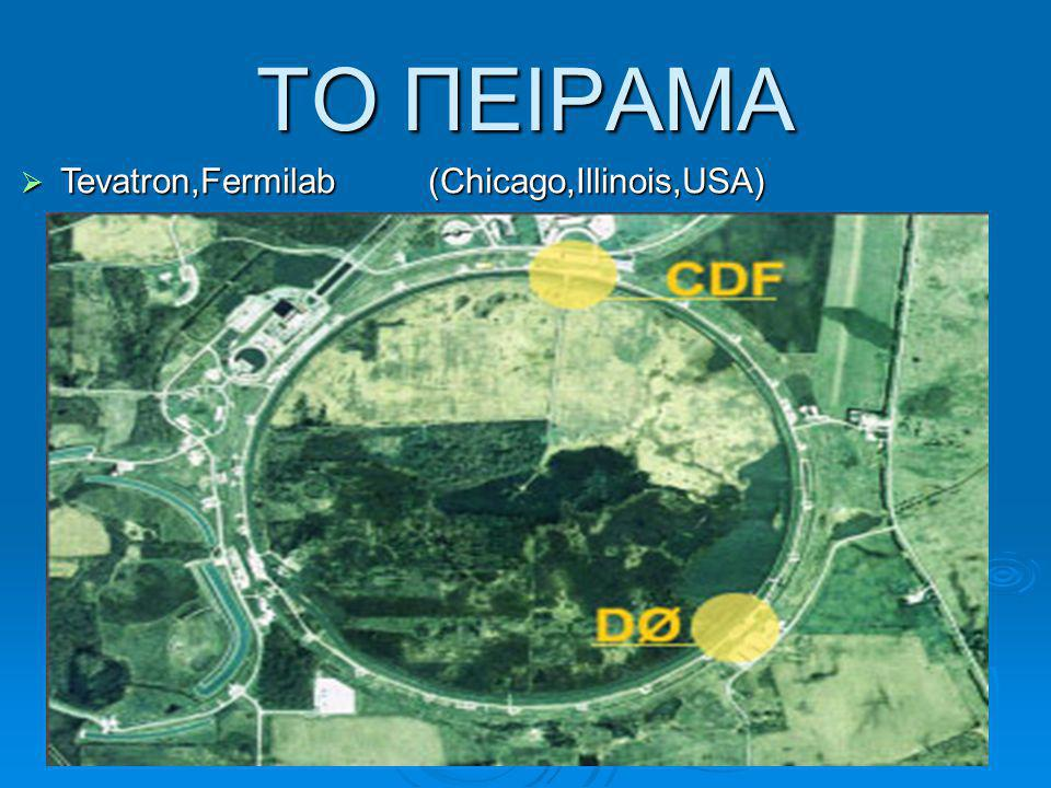 ΤΟ ΠΕΙΡΑΜΑ  Tevatron,Fermilab (Chicago,Illinois,USA)