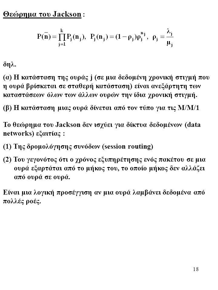 18 Θεώρημα του Jackson : δηλ.