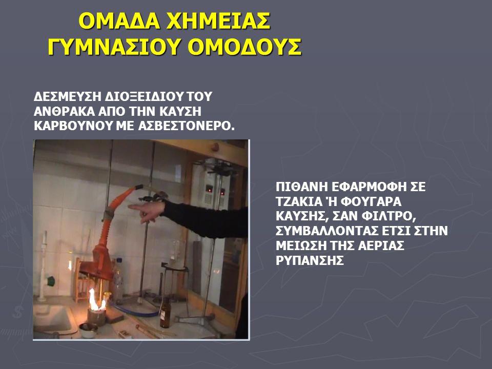 Λίγες Γνώσεις Για Την Εφαρμογή Του Πειράματος Αυτού ► Η καύση του κάρβουνου είναι ατελής καύση.