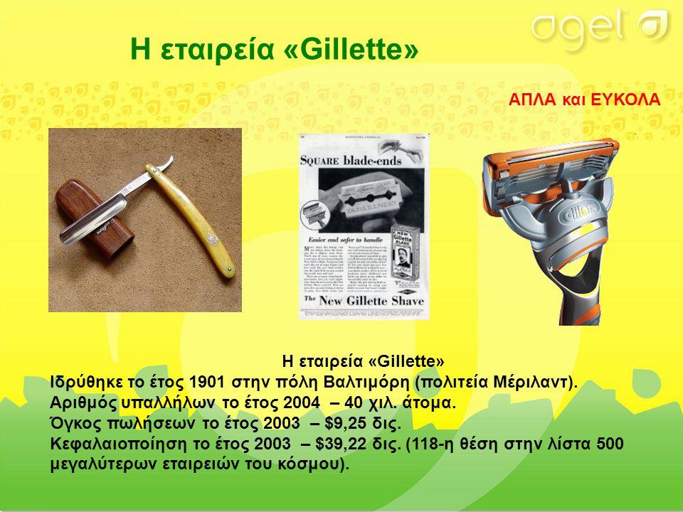 Η εταιρεία «Gillette» Ιδρύθηκε το έτος 1901 στην πόλη Βαλτιμόρη (πολιτεία Μέριλαντ).