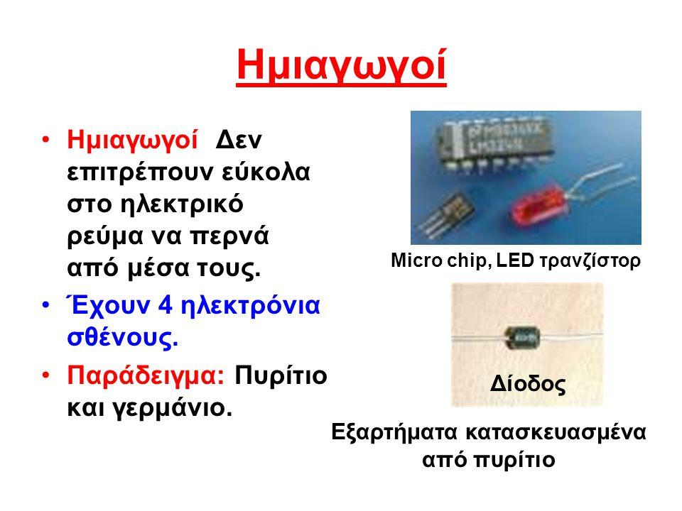 Μονωτές Μονωτές είναι υλικά που δεν επιτρέπουν στο ηλεκτρικό ρεύμα να περάσει από μέσα τους.