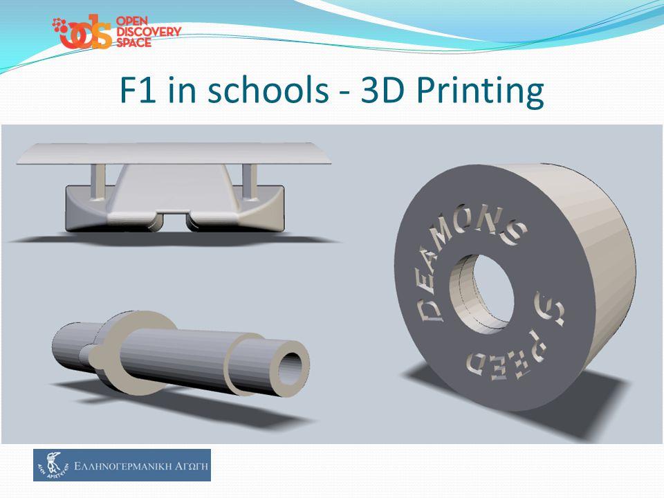F1 in schools - 3D Printing