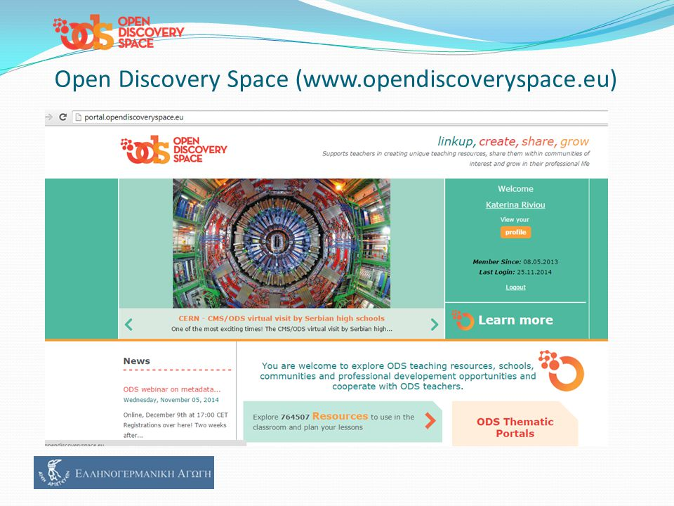 Open Discovery Space (www.opendiscoveryspace.eu)