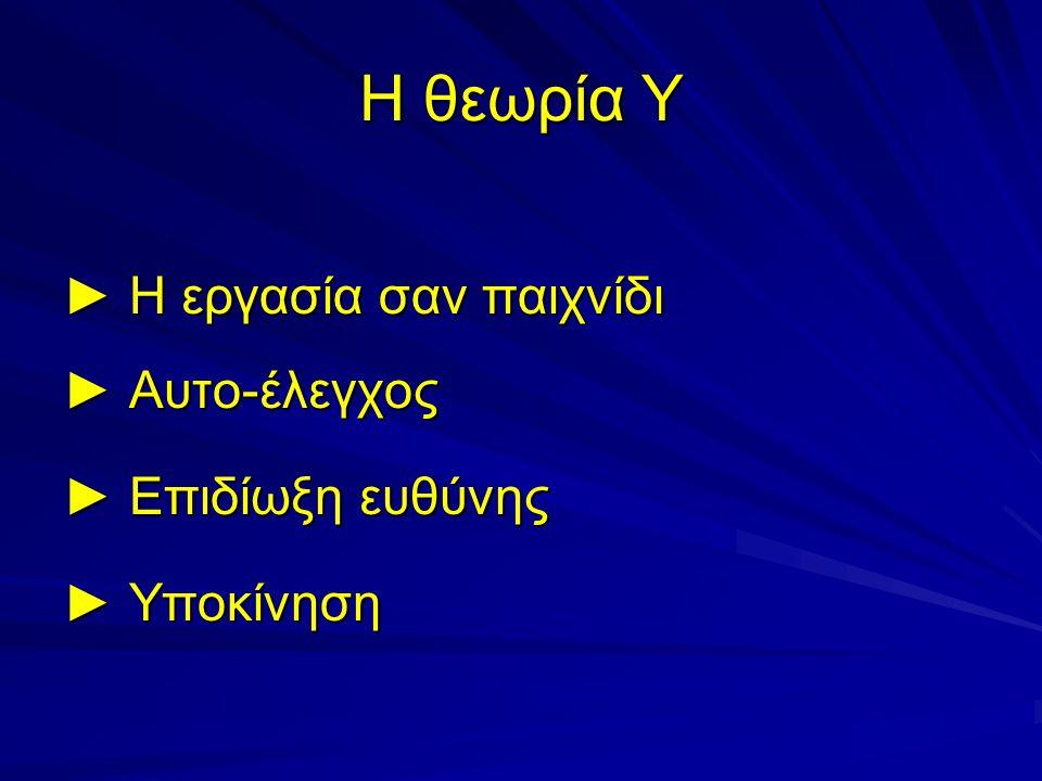 Ποιο μοντέλο διεύθυνσης βασίζεται στις θεωρίες Χ και Υ